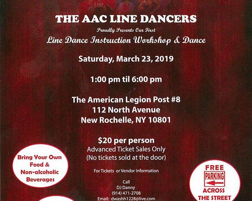 Line Dance Instruction Workshop and Dance
